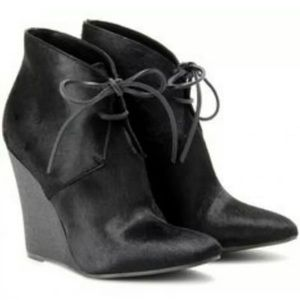 Burberry Prorsum Benton Lace Up Wedge Ankle boot